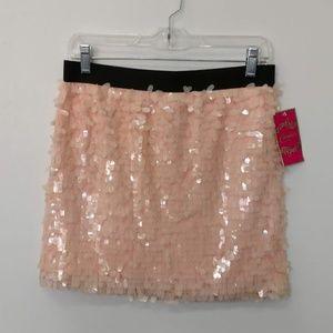 Peach Melba Sequin skirt NWT